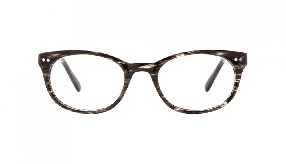 Affordable Fashion Glasses Round Eyeglasses Women Chatty Cathy Black Tie Tweed Front