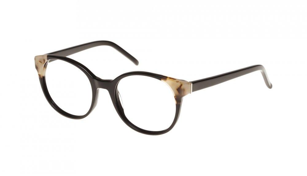 Affordable Fashion Glasses Round Eyeglasses Women Bis ebony granite Tilt