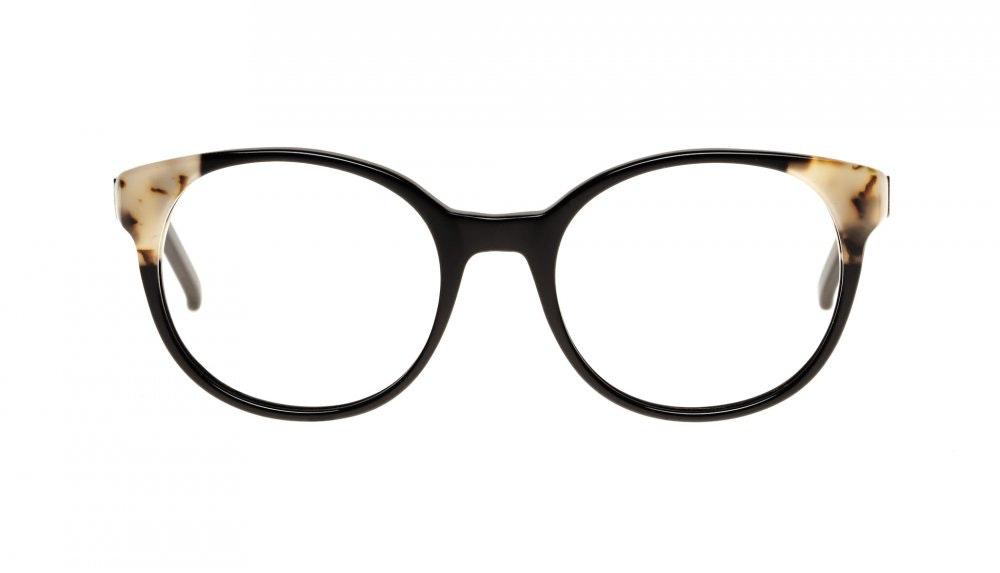 Affordable Fashion Glasses Round Eyeglasses Women Bis ebony granite Front