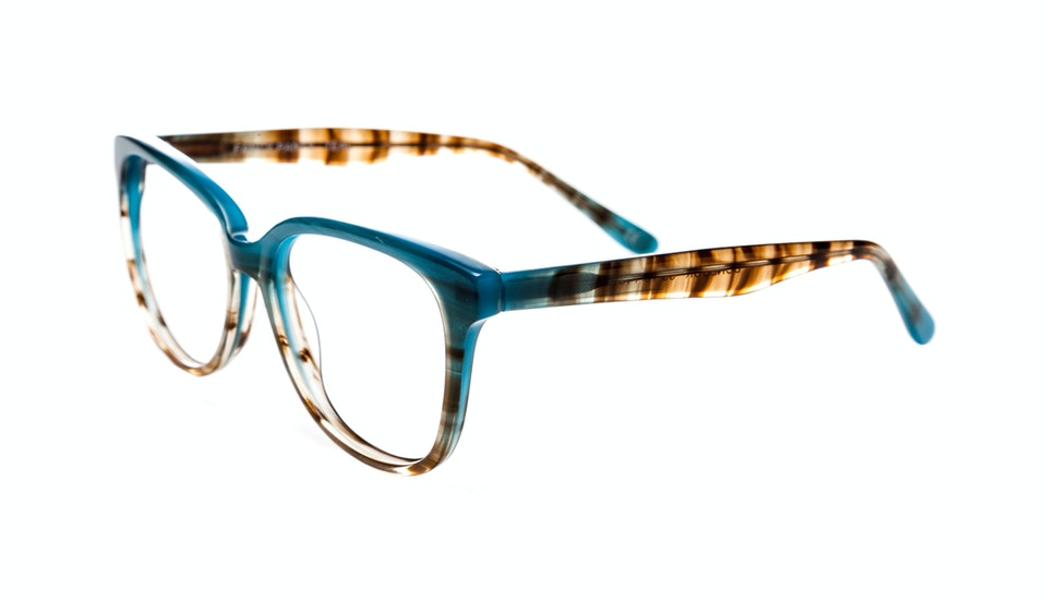 Affordable Fashion Glasses Round Eyeglasses Women Fancy-Pants Teal Tilt