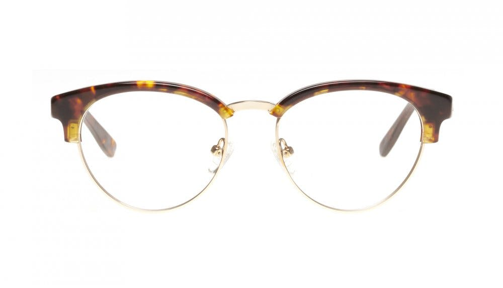 Affordable Fashion Glasses Round Eyeglasses Women Allure Sepia Kiss Front