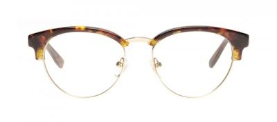 Affordable Fashion Glasses Round Eyeglasses Women Allure Sepia Kiss Front
