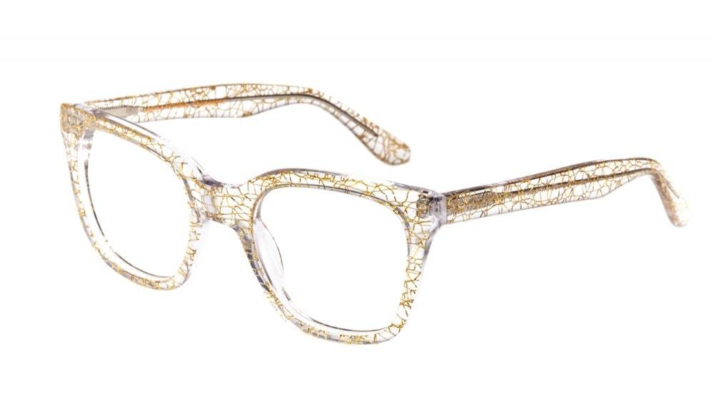 Affordable Fashion Glasses Rectangle Square Eyeglasses Women Jack & Norma Champagne Tilt