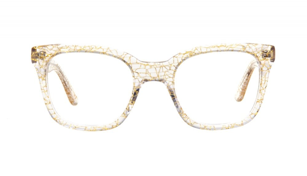 Affordable Fashion Glasses Rectangle Square Eyeglasses Women Jack & Norma Champagne Front