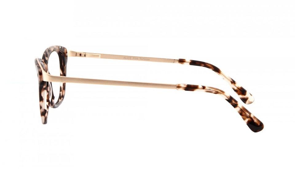 Affordable Fashion Glasses Square Eyeglasses Women Alice Pink Tortoise Side