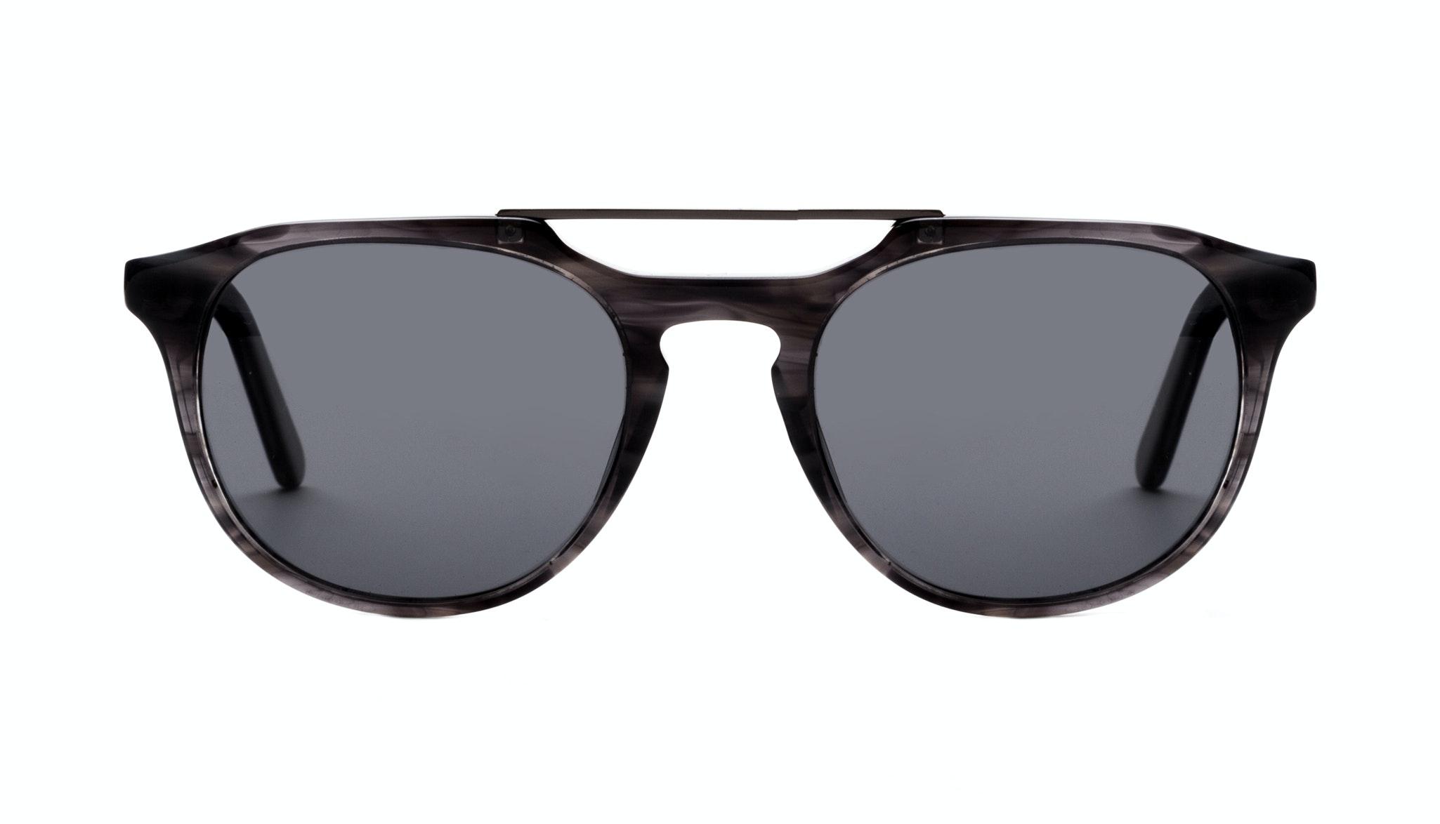Affordable Fashion Glasses Aviator Rectangle Sunglasses Men Copenhagen Black Smoke