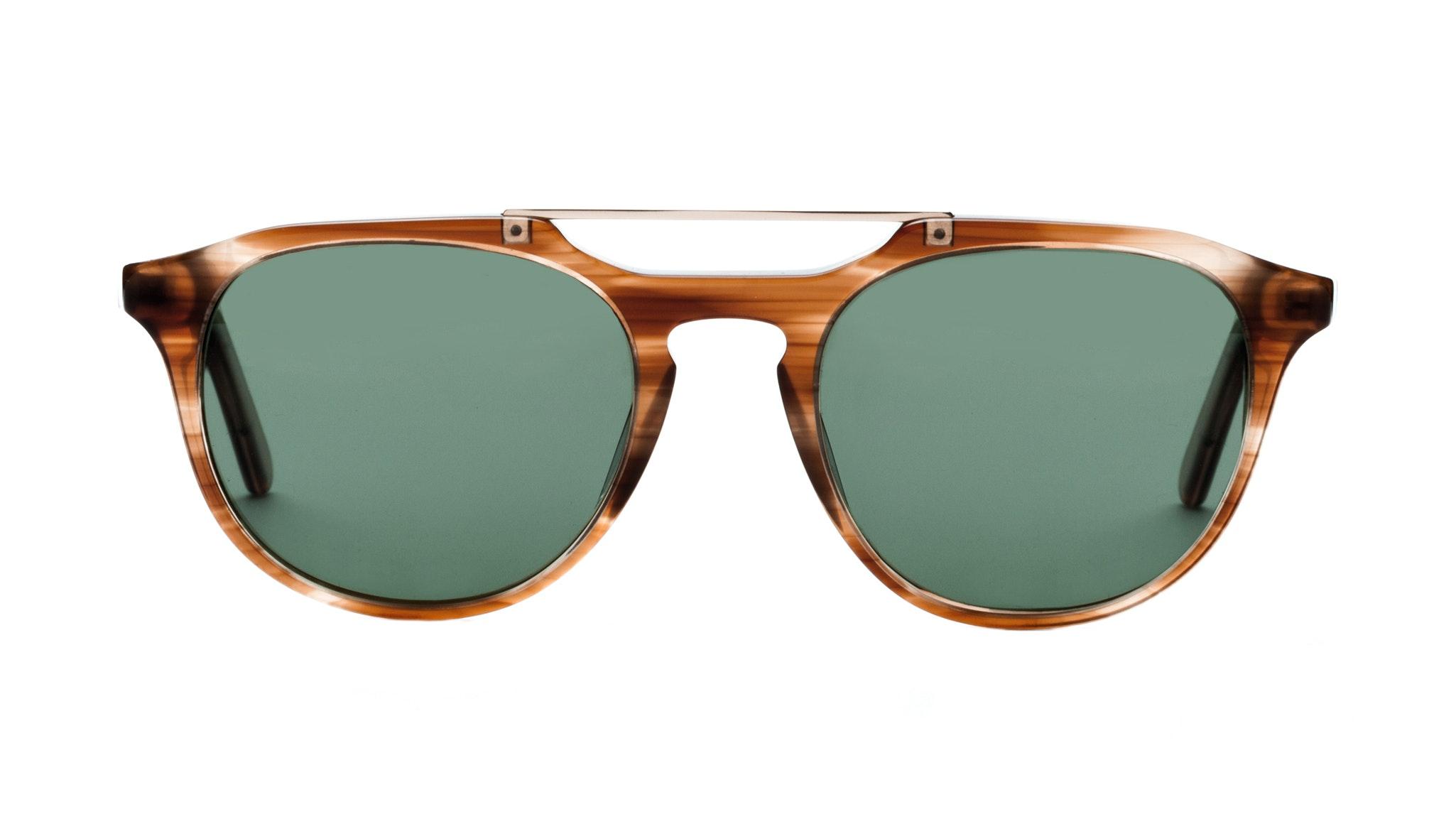 Affordable Fashion Glasses Aviator Rectangle Sunglasses Men Copenhagen Caramel