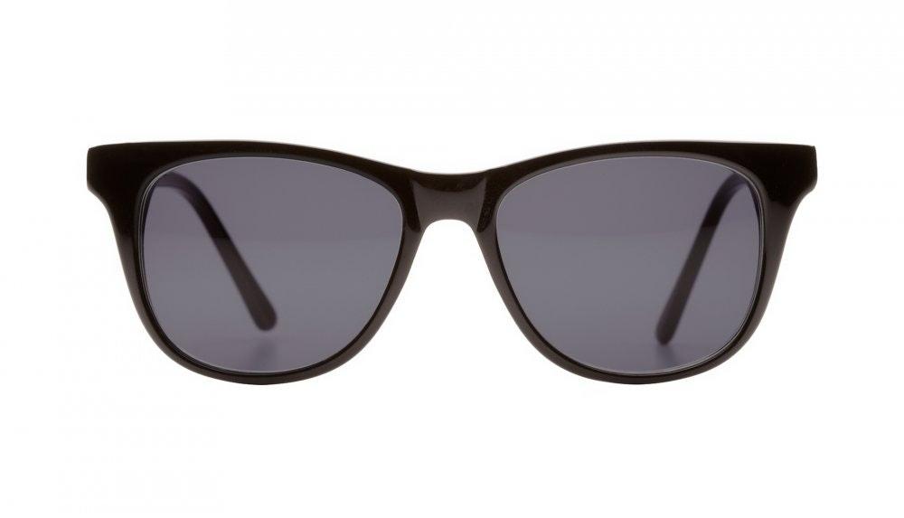 Affordable Fashion Glasses Square Sunglasses Men Women Night Owl Black Front