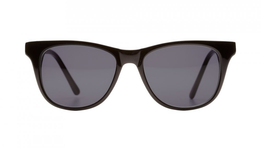 Affordable Fashion Glasses Square Sunglasses Women Night Owl Black Front
