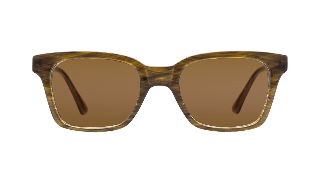 Affordable Fashion Glasses Square Sunglasses Women Jungle Chic Tuscan Tweed Front