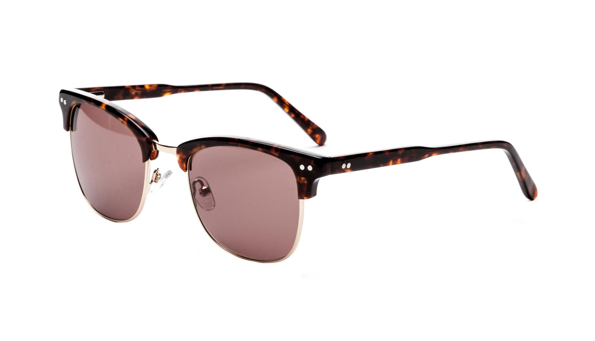Affordable Fashion Glasses Square Sunglasses Men Lift Gold Sepia Tilt
