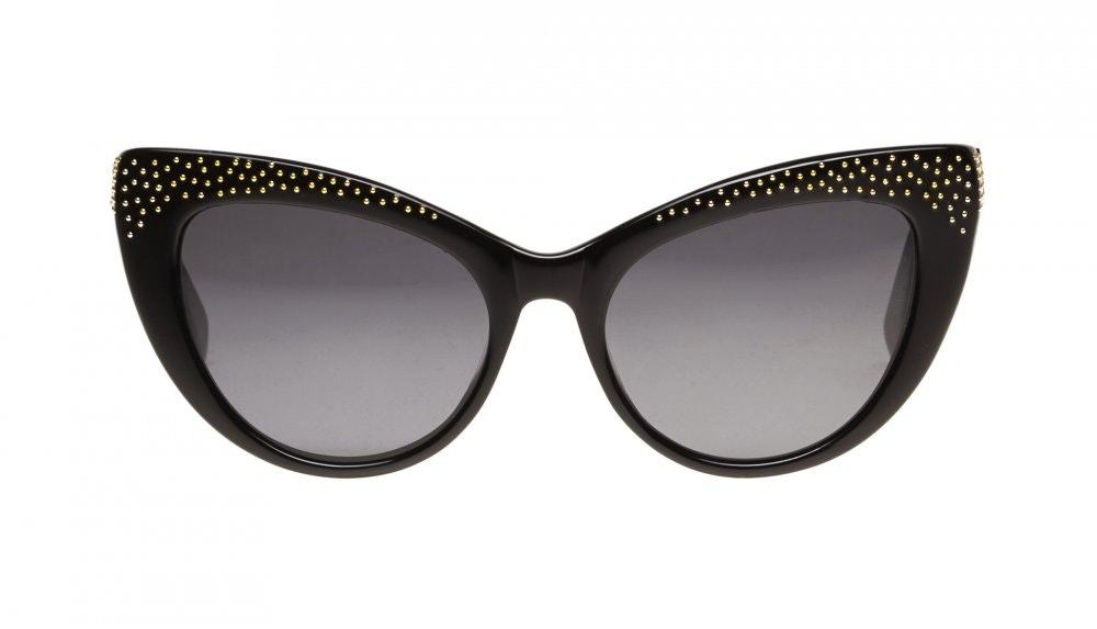 Lunettes tendance Oeil de chat Daring Cateye Lunettes de soleil Femmes Keiko Roxy Noir Face