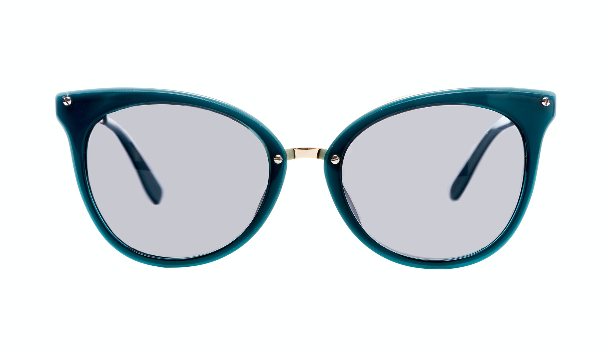 Affordable Fashion Glasses Cat Eye Sunglasses Women BFF Aquamarine Front