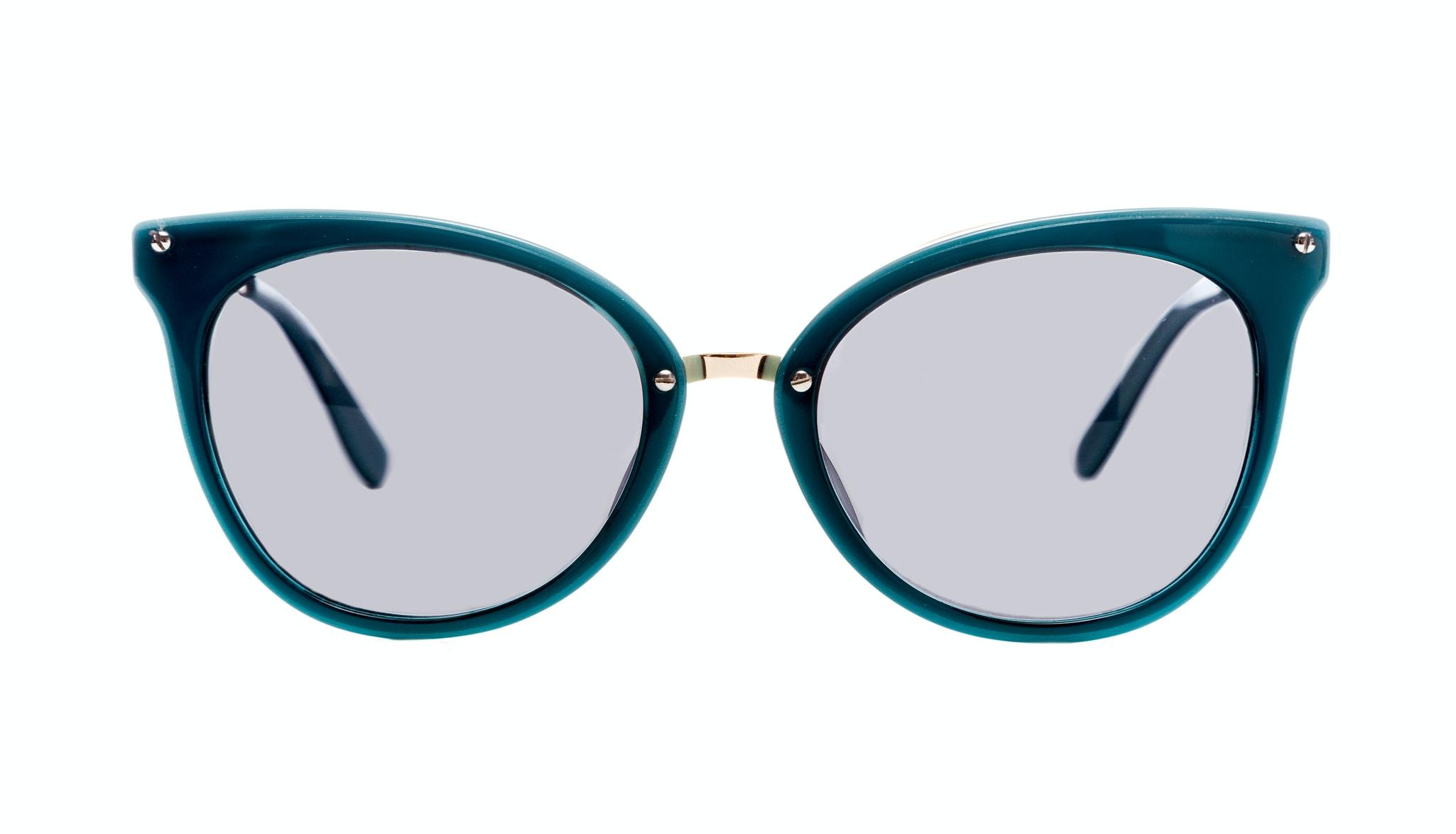 Affordable Fashion Glasses Cat Eye Sunglasses Women BFF Aquamarine Front
