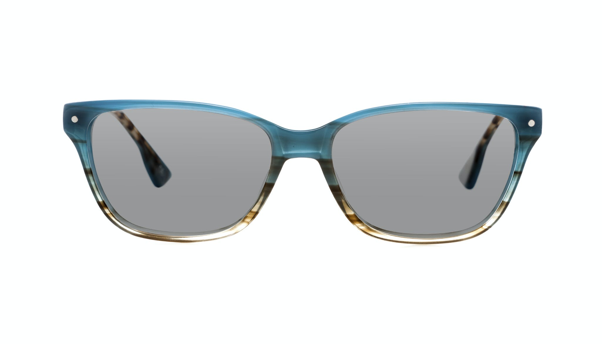 Affordable Fashion Glasses Rectangle Sunglasses Women Honeybadger TEAL Front