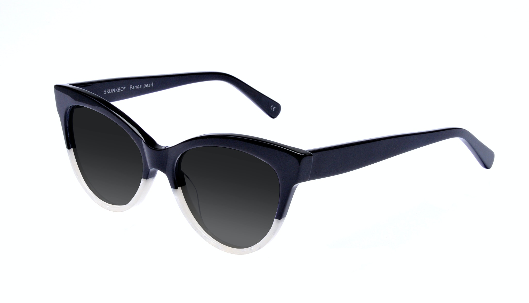Affordable Fashion Glasses Cat Eye Square Sunglasses Women SkunkBoy Panda Pearl Tilt