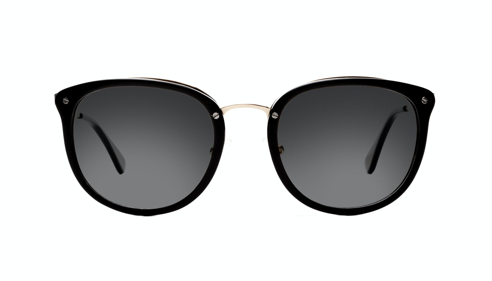 Affordable Fashion Glasses Square Round Sunglasses Women Amaze Onyx