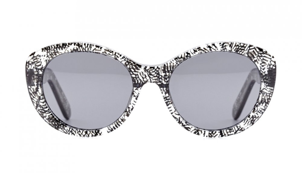 Affordable Fashion Glasses Round Sunglasses Women South Beach Black Reef Front