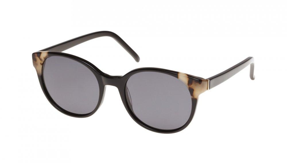 Affordable Fashion Glasses Round Sunglasses Women Bis ebony granite Tilt