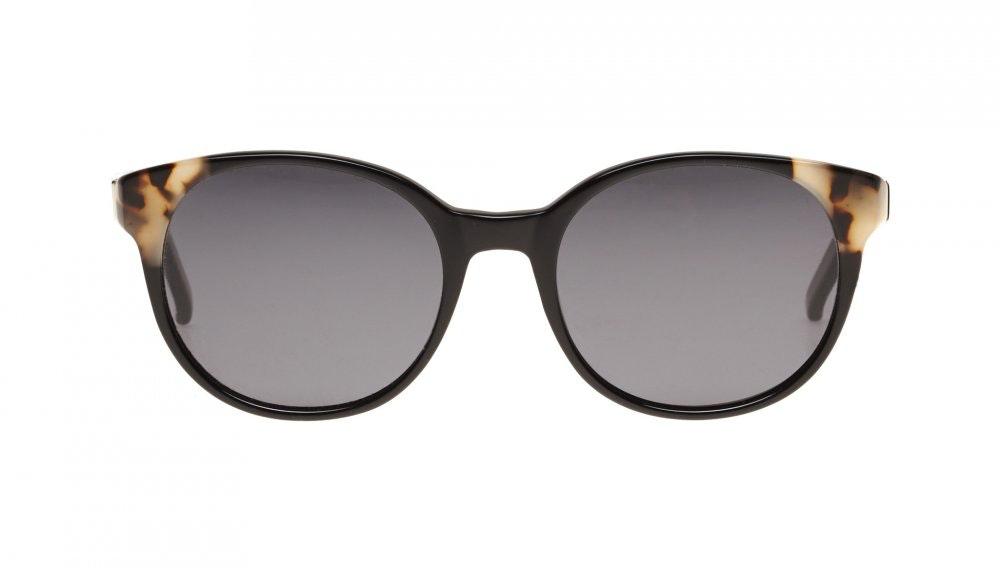 Affordable Fashion Glasses Round Sunglasses Women Bis ebony granite Front