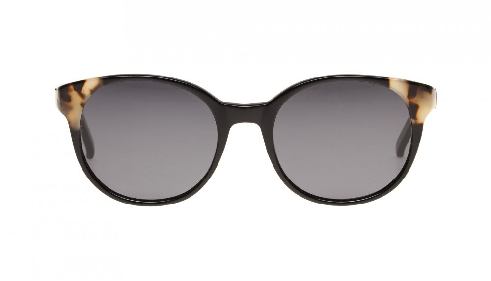 Affordable Fashion Glasses Round Sunglasses Women Bis ebony granite