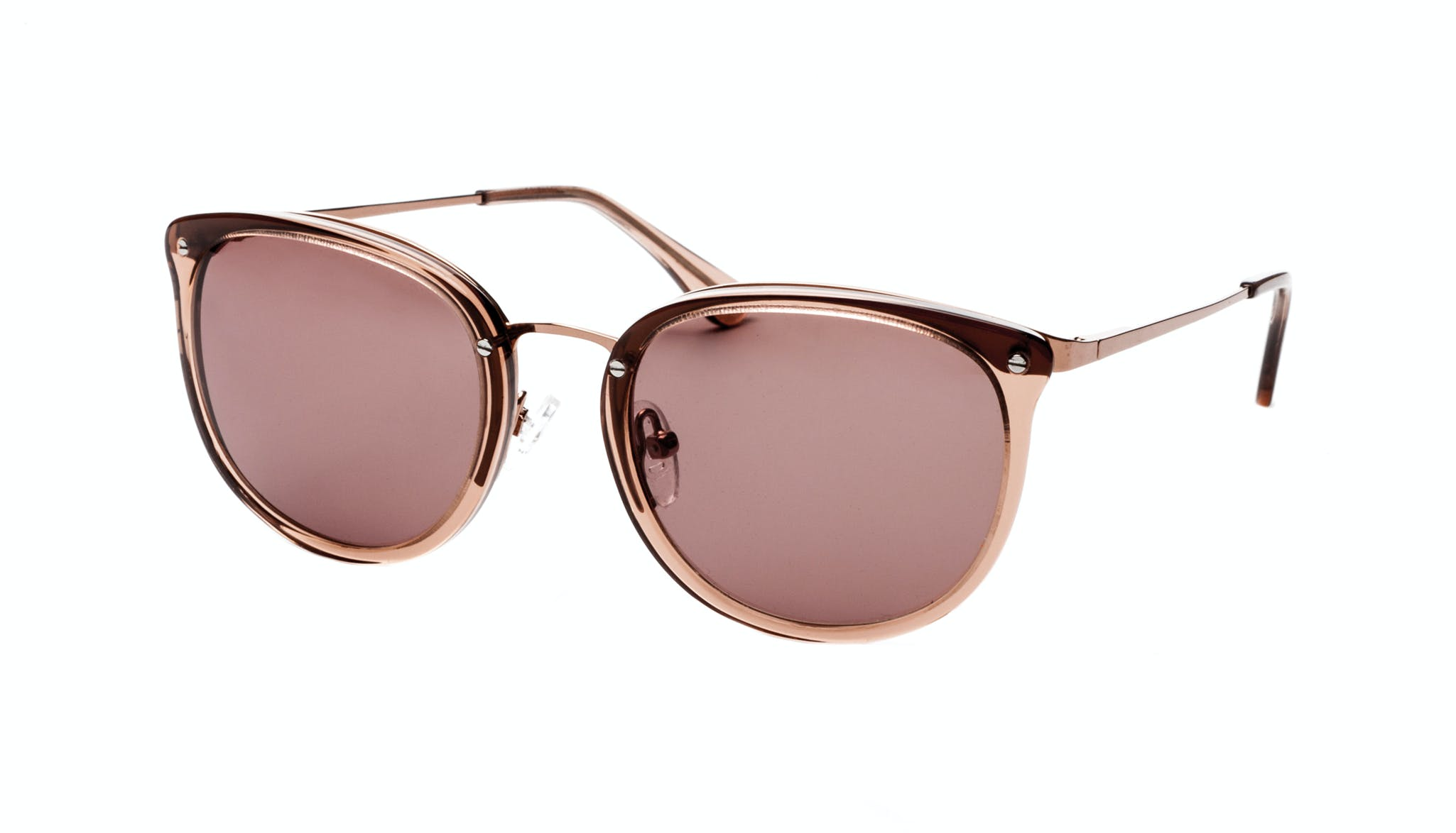 Affordable Fashion Glasses Square Round Sunglasses Women Amaze Rose Tilt