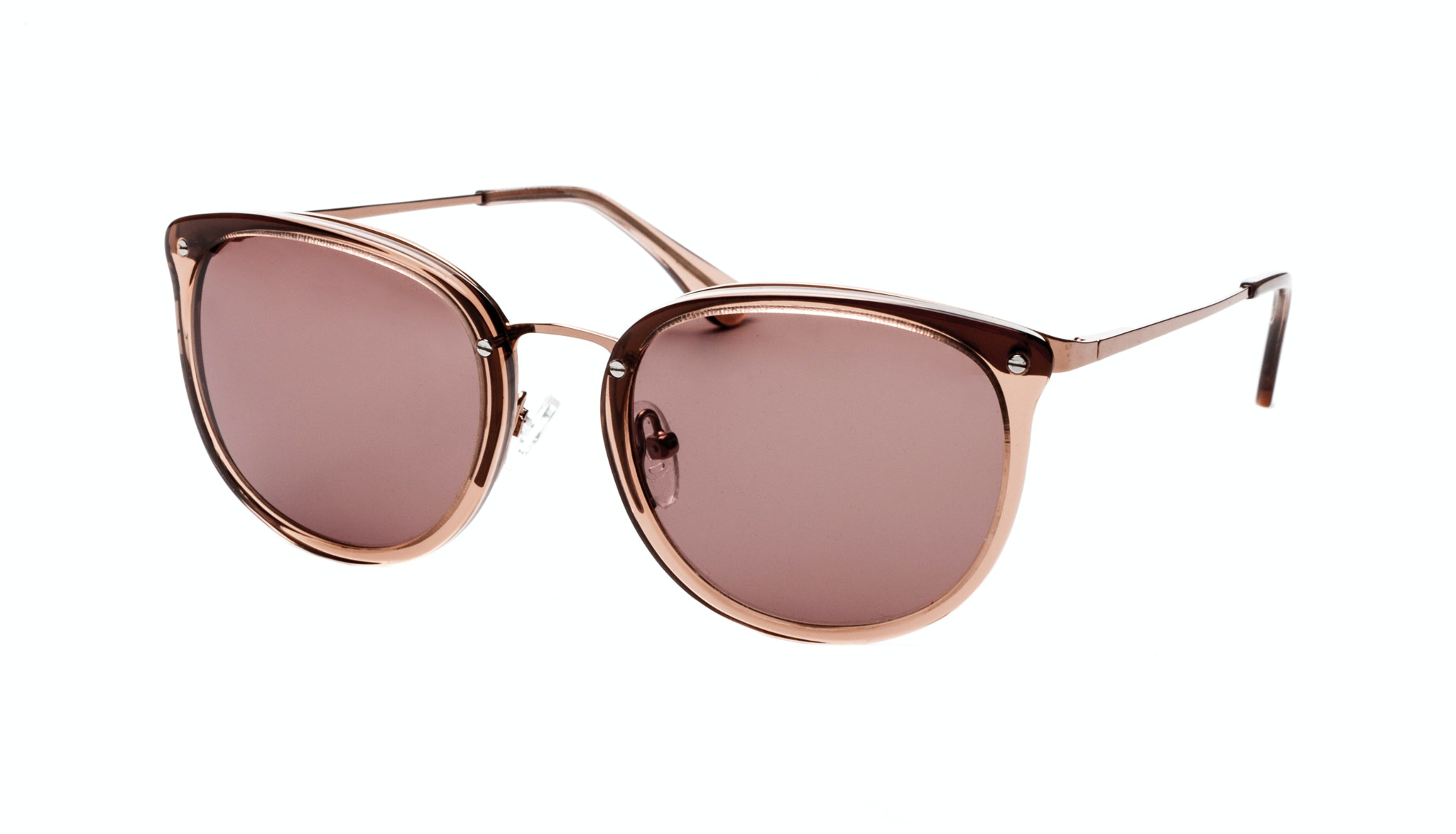 Affordable Fashion Glasses Round Sunglasses Women Amaze Rose Tilt