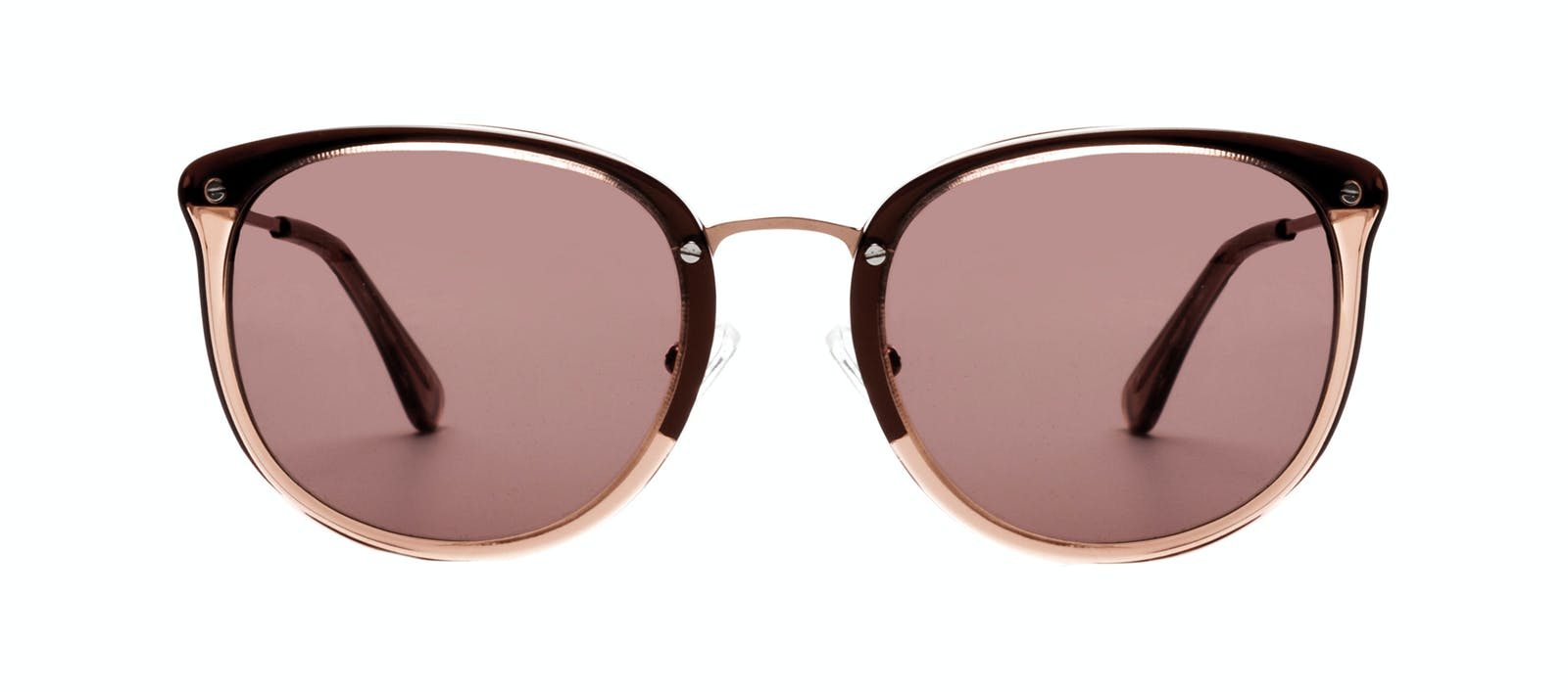 7d0d12f87a Affordable Fashion Glasses Square Round Sunglasses Women Amaze Rose Front
