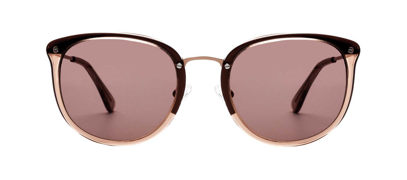 Affordable Fashion Glasses Square Round Sunglasses Women Amaze Rose Front