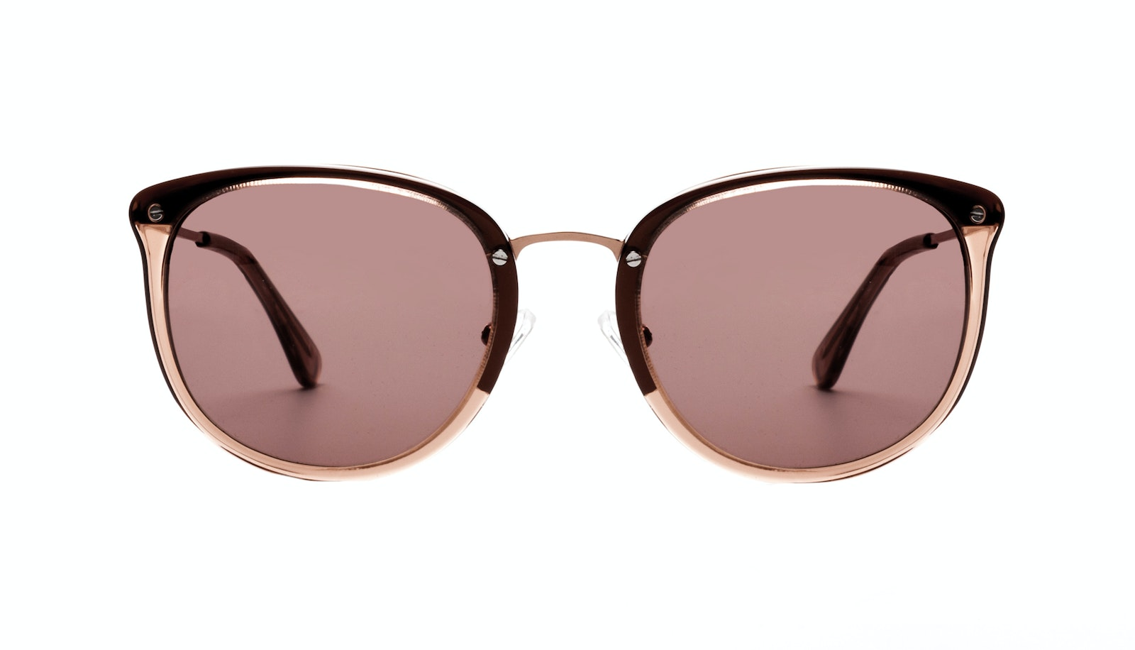Affordable Fashion Glasses Square Round Sunglasses Women Amaze Rose