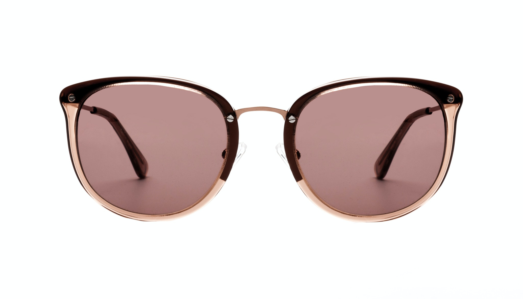 Affordable Fashion Glasses Round Sunglasses Women Amaze Rose Front