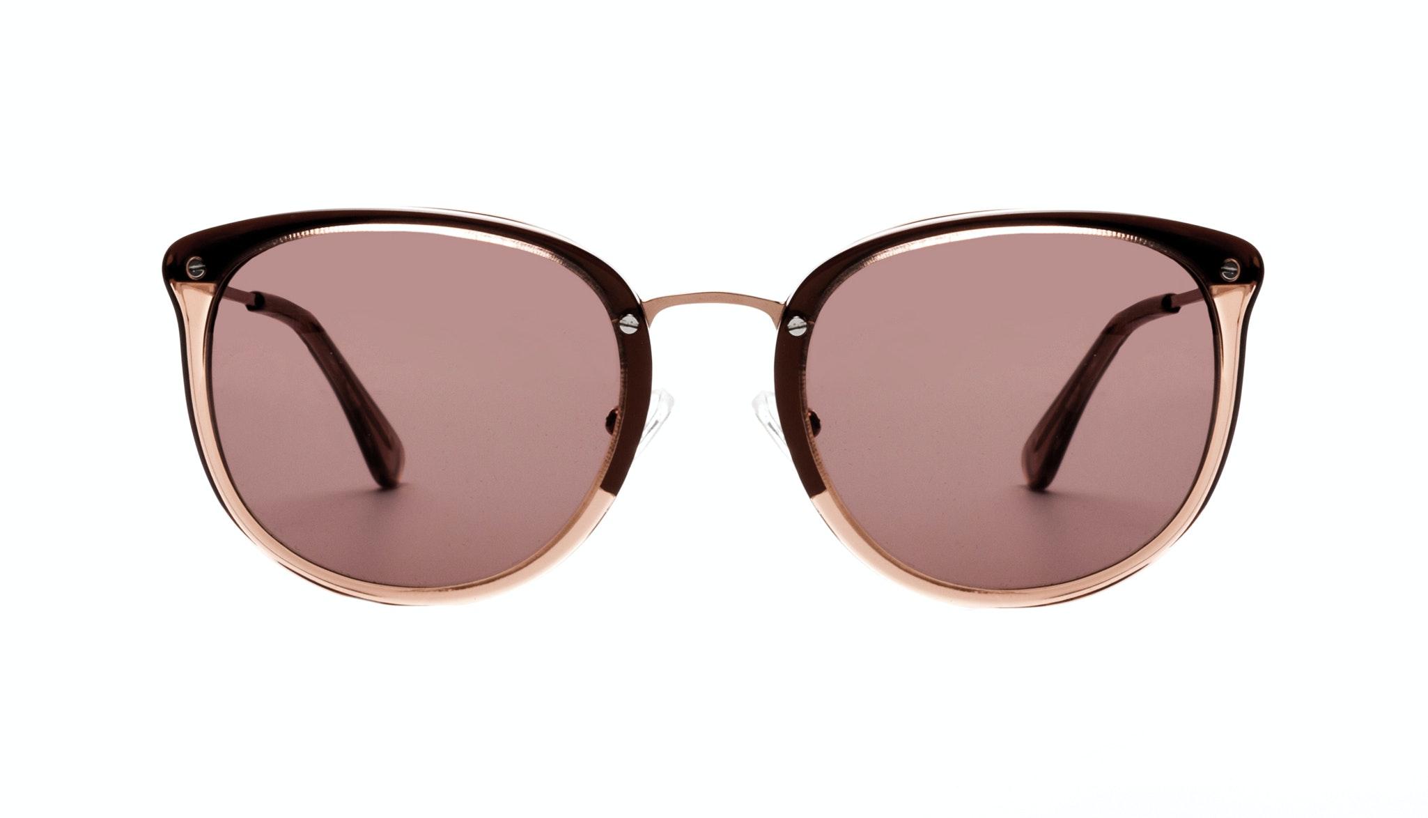Affordable Fashion Glasses Square Round Sunglasses Women Amaze Rose