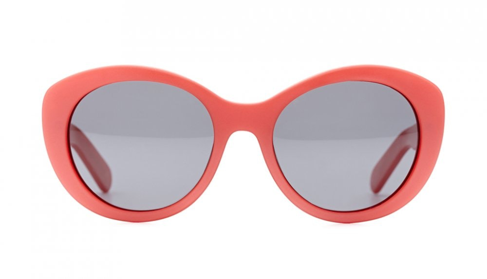 Affordable Fashion Glasses Round Sunglasses Women South Beach Frosted Coral Front