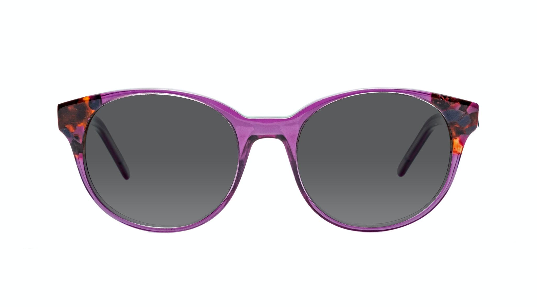 Affordable Fashion Glasses Round Sunglasses Women Bis Pretty Purple