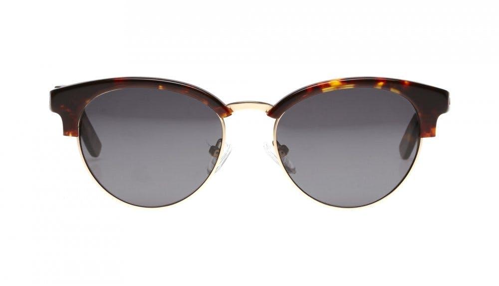 Affordable Fashion Glasses Round Sunglasses Women Allure Sepia Kiss Front