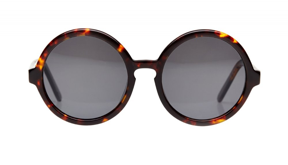 Affordable Fashion Glasses Round Sunglasses Women Apfel Sepia Kiss Front