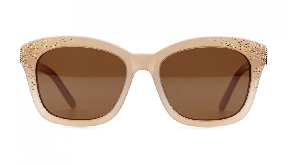 Affordable Fashion Glasses Square Sunglasses Women Ibiza Sand Front