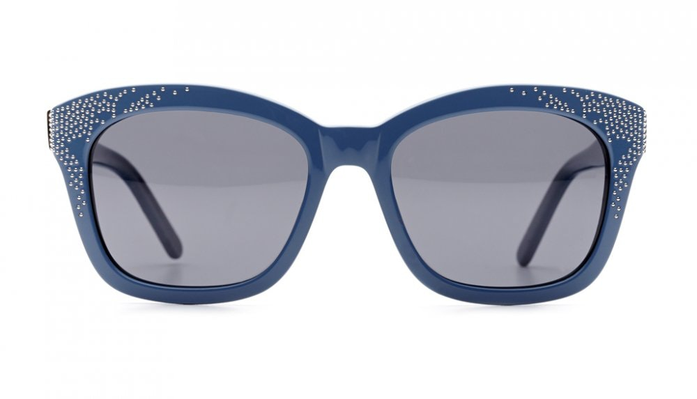 Affordable Fashion Glasses Square Sunglasses Women Ibiza Dolphin Blue Front