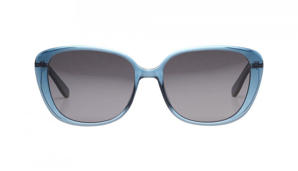 Affordable Fashion Glasses Square Sunglasses Women Japonisme Buddhist Blue Front
