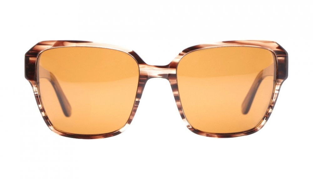 Affordable Fashion Glasses Square Sunglasses Women Wonderland Espresso Front