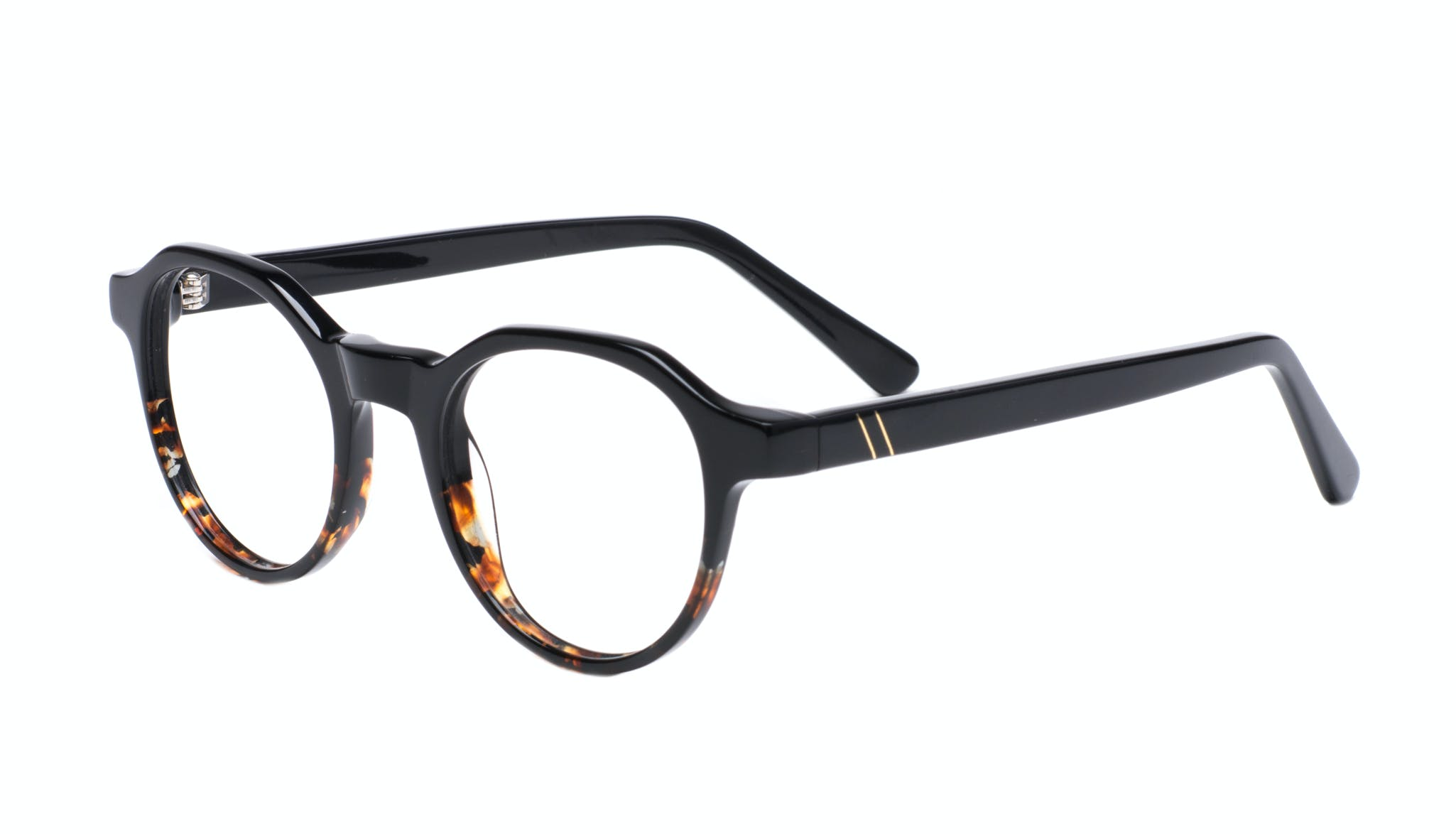 Affordable Fashion Glasses Round Eyeglasses Men Form Black Mahogany Tilt