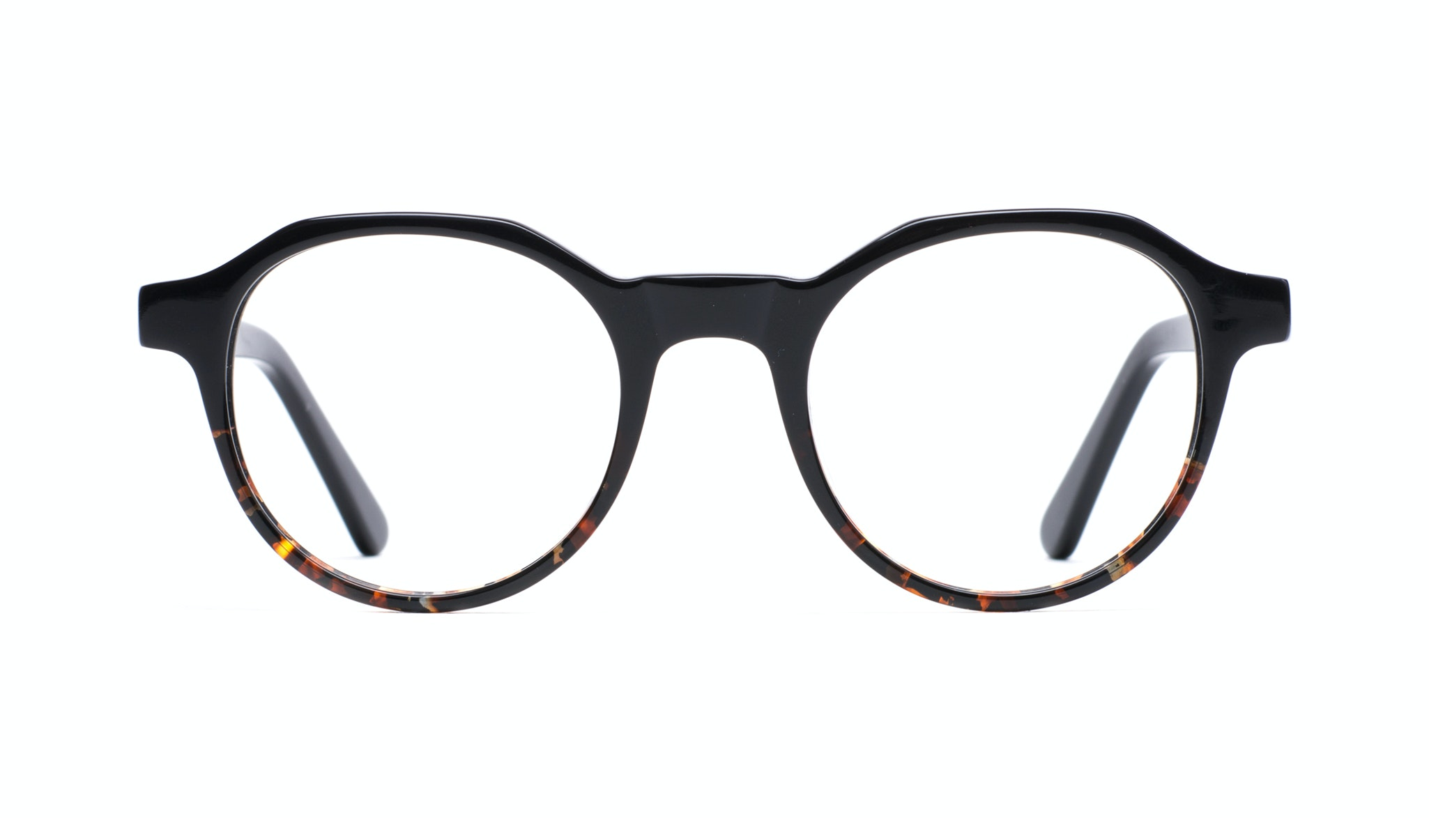 Affordable Fashion Glasses Round Eyeglasses Men Form Black Mahogany