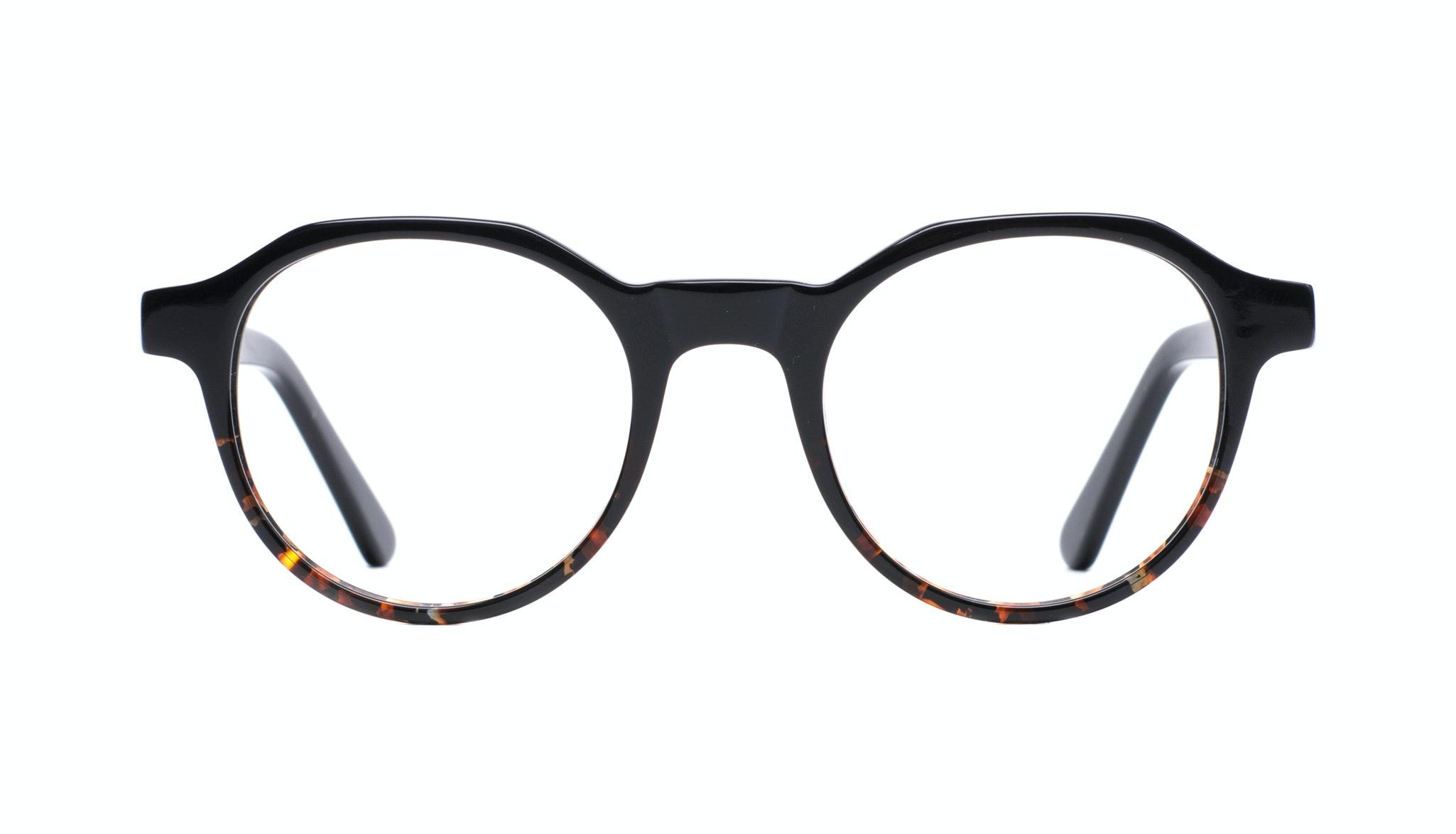 Affordable Fashion Glasses Round Eyeglasses Men Form Black Mahogany