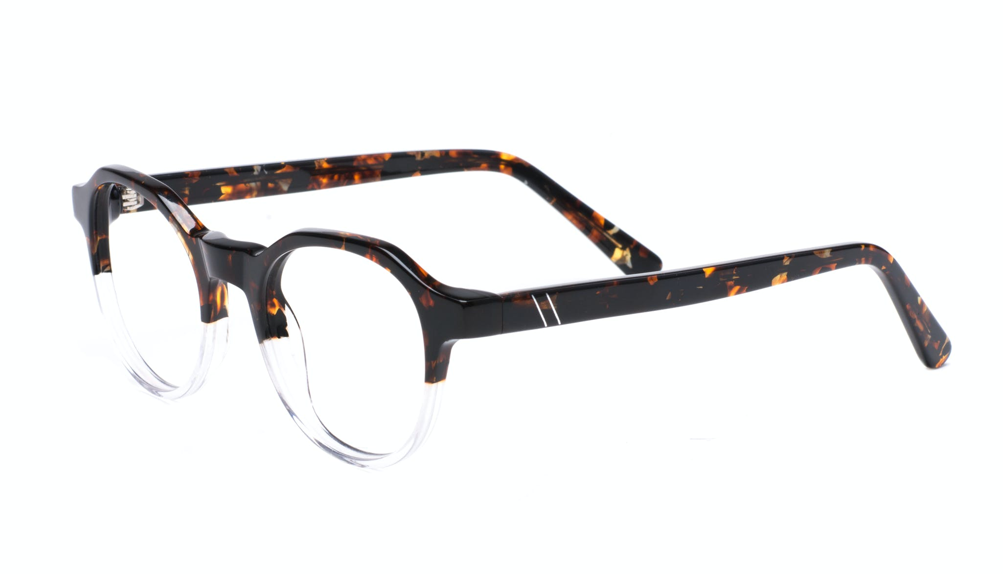 Affordable Fashion Glasses Round Eyeglasses Men Form Mahogany Clear Tilt