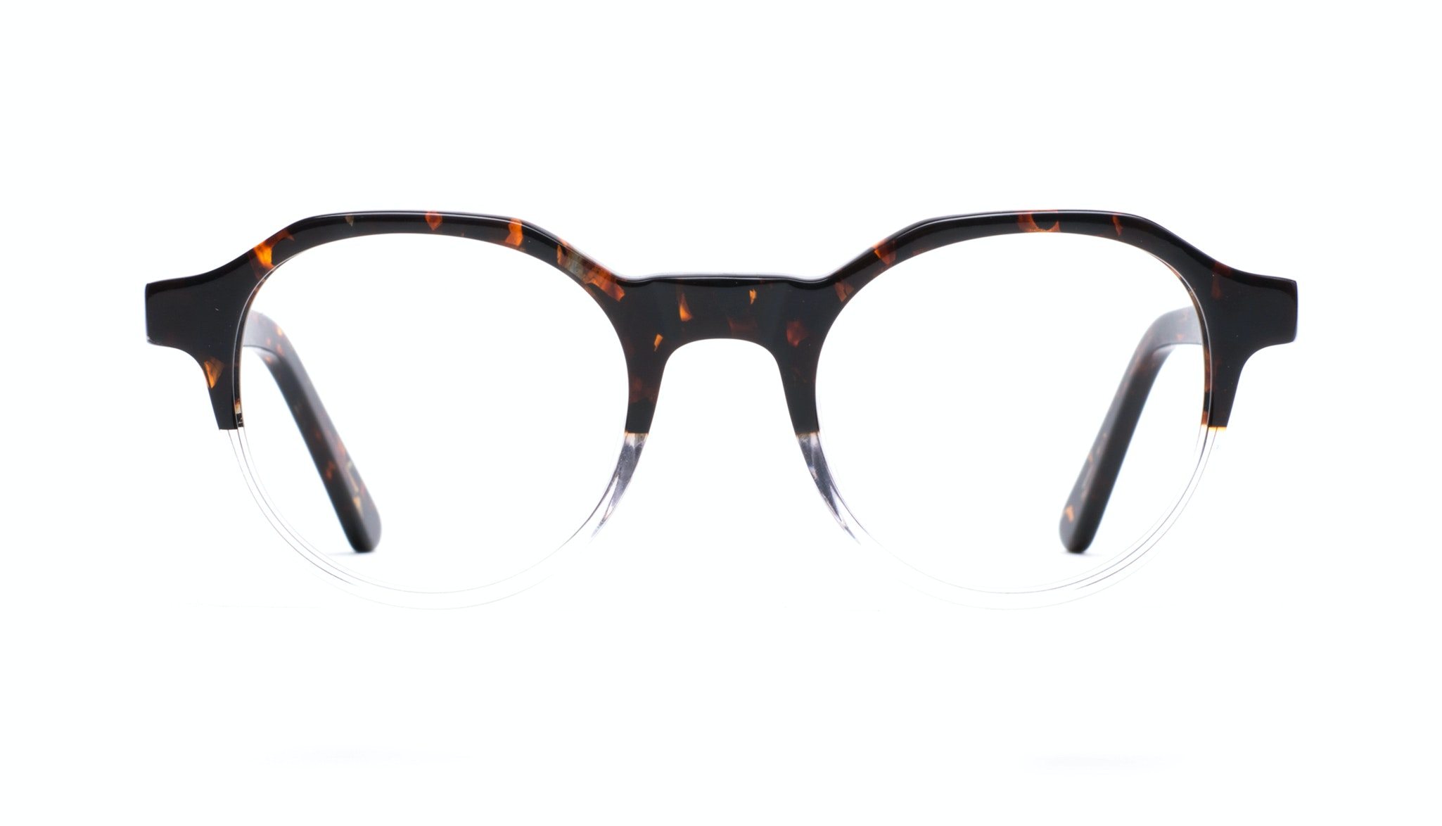 Affordable Fashion Glasses Round Eyeglasses Men Form Mahogany Clear