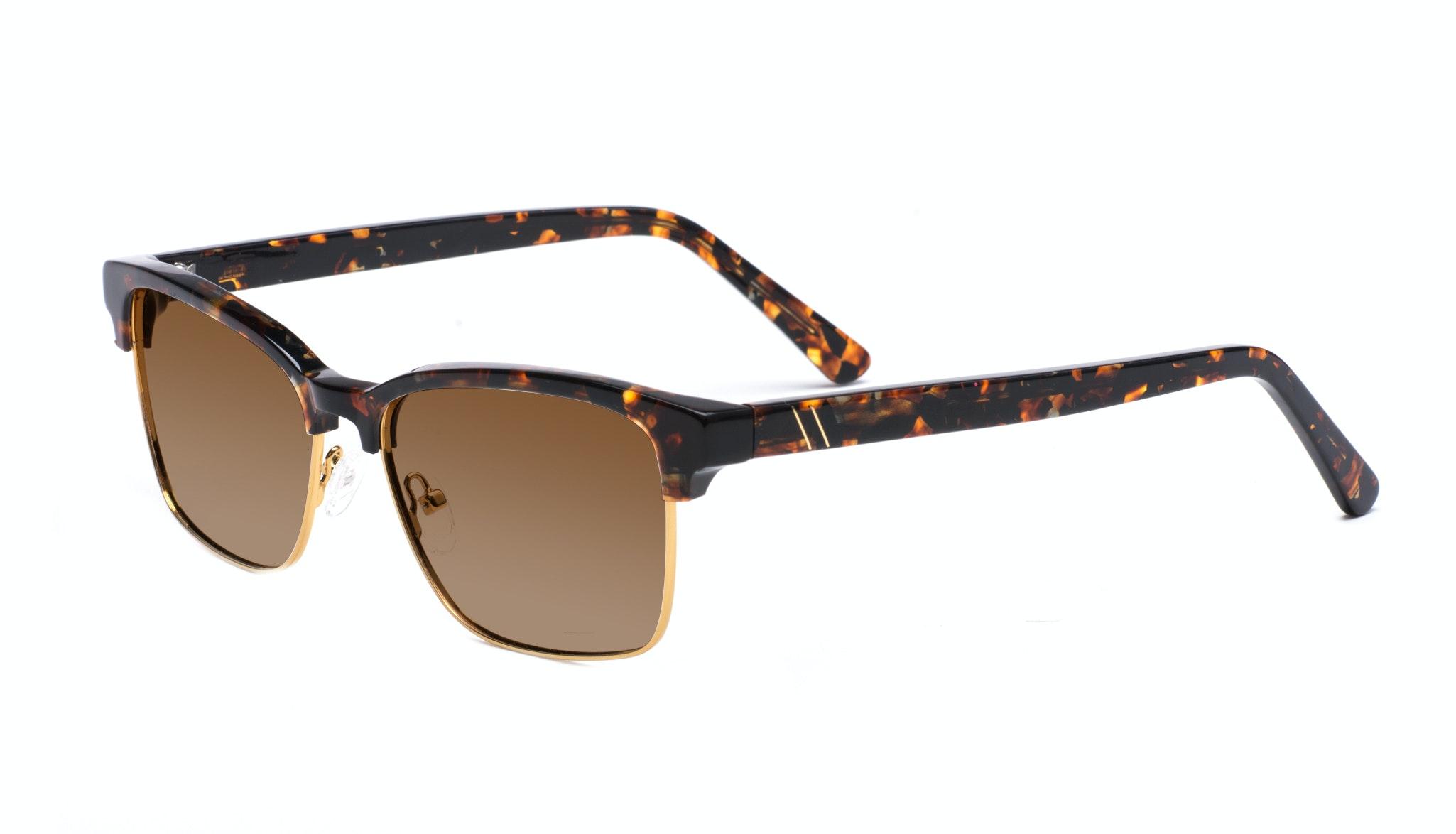 Affordable Fashion Glasses Rectangle Square Sunglasses Men Gallery Mahogany Tilt