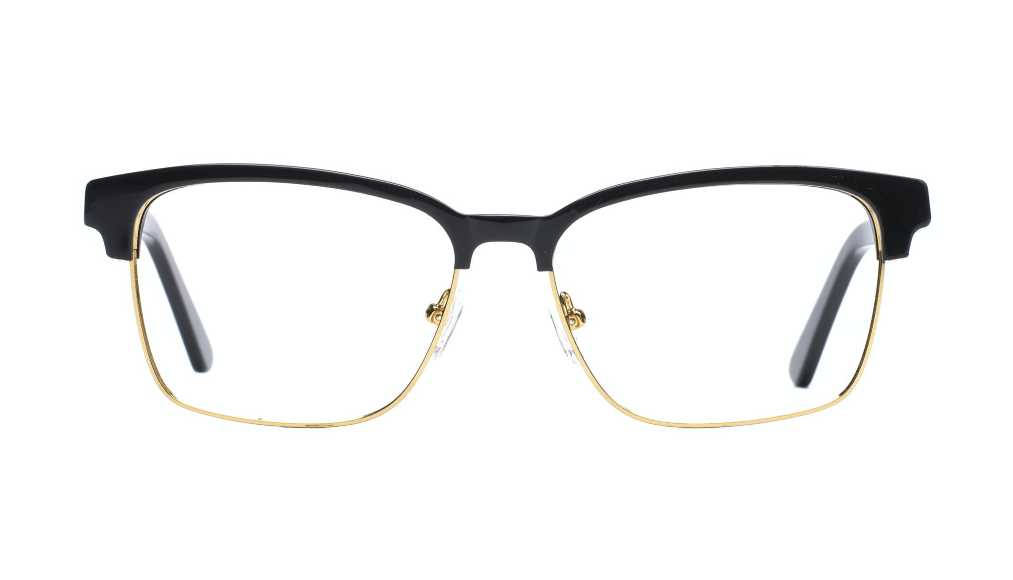Affordable Fashion Glasses Rectangle Square Eyeglasses Men Gallery Black Front