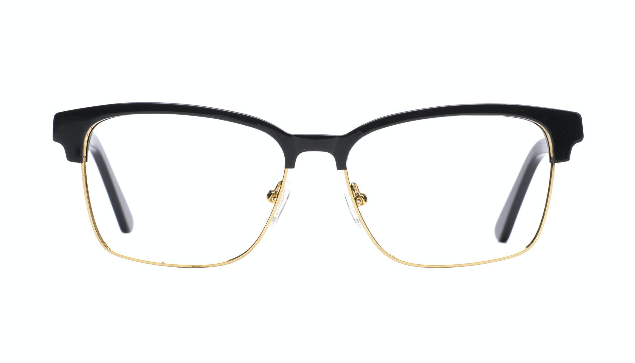 Affordable Fashion Glasses Rectangle Square Eyeglasses Men Gallery Black Front