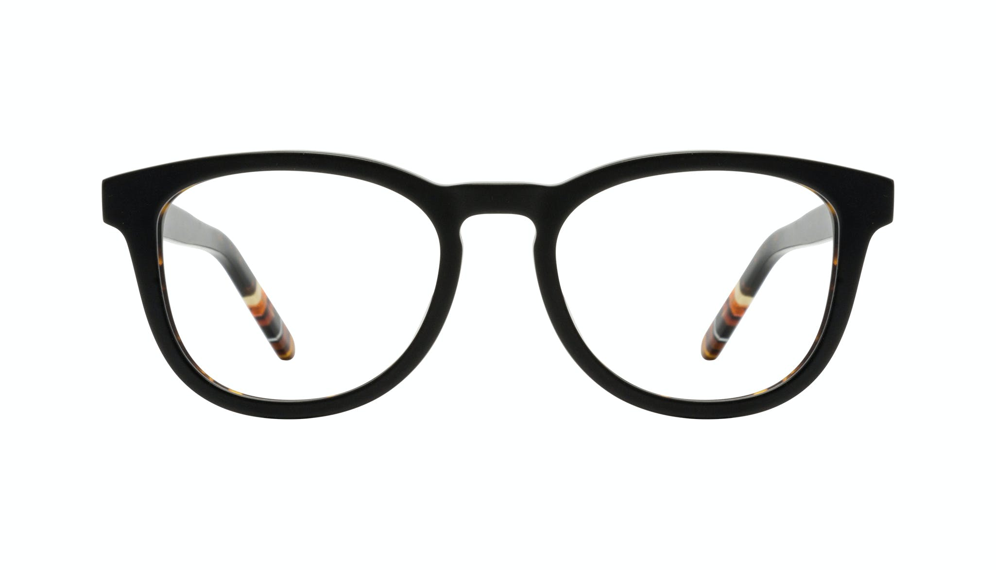 Affordable Fashion Glasses Round Eyeglasses Men Goal Black Tort Front
