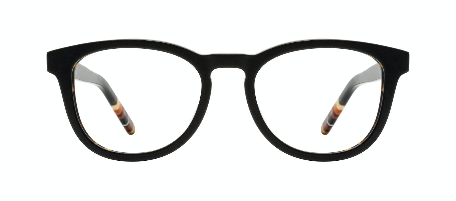 Affordable Fashion Glasses Round Eyeglasses Men Goal Black Tort Front